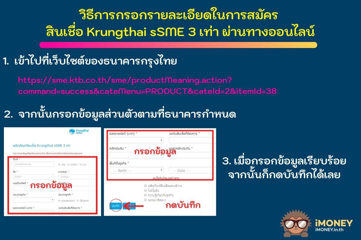 สมัครผ่านออนไลน์สินเชื่อ Krungthai sSME 3 เท่า-สินเชื่อ 3 เท่า กรุงไทย-iMoney